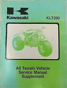 KAWASAKI SERVICE MANUAL SUPPLEMENT KLT200A