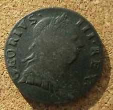More details for non regal george iii georius error strange date half penny 7.3 gms