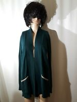 Neiman Marcus Women's Green Cashmere Open Front Cardigan Sweater Size M