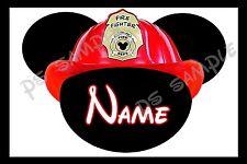 4x6 Disney Cruise Stateroom Door Magnet - FIRE FIGHTER FIREMAN MICKEY