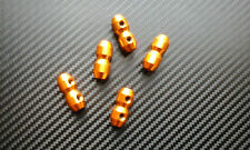 5x Gold anodized aluminium cable clamps, Go kart Accelerator Brake Wire, Quality
