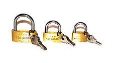 3x Padlocks Padlock U-lock Lock 20/25/30mm Cellar