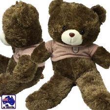 80cm Large Teddy Sweater Bear Huggable Toy Plush Big Gift Taupe Brown GBEAR0814