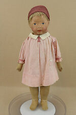 """19"""" Rare antique cloth molded face KAMKINS doll by Louis R. Kampes 1920s"""