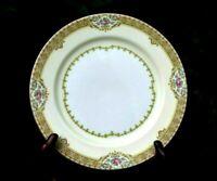 Vtg Set #4 Meito Fine Old World China Annette JAPAN Salad Plates Roses Gold Leaf