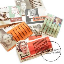 Vintage 1930's-50's Card of Hair Grips / Bobby Pins for Hairstyling