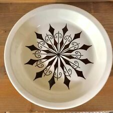 Vintage Atomic Design Pie Plate MCM Ceramic Star Pie Dish Modern Retro Starburst