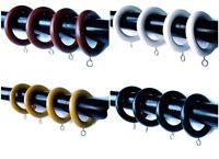 35mm Diameter Wooden Curtain Pole Rings White Oak Walnut Dar Walnut Black Multi