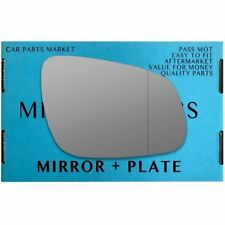 Right Driver side Wide Angle wing mirror glass for Vauxhall Viva 2015-2017 plate
