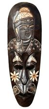 Tolle 50 cm HOLZ Wand MASKE B-WARE Buddha Bali Feng Shui Handarbeit Maske47.50
