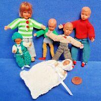 KONVOLUT ALTE BIEGE PUPPEN BABY DOLL VINTAGE PUPPENHAUS PUPPE