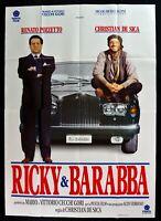 Manifesto Ricky Y Ba Renato Carlinga Christian De Sica Coche Car Verb M303