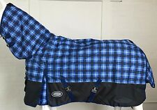 AXIOM 600D WATERPROOF 300G BLUE CHECK/NAVY TURNOUT COMBO RUG - 5' 6