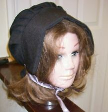 VICTORIAN  BONNET / TUDOR  LARP HAT CHILDS BLACK  National Dress