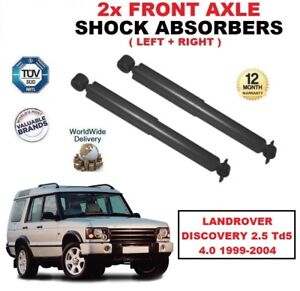 FRONT LEFT + RIGHT SHOCK ABSORBERS for LANDROVER DISCOVERY 2.5 Td5 4.0 1999-2004