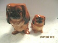 Beautiful Royal Doulton Pekinese Mother And Pup Figurines