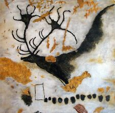 Deer : Lascaux Cave Painting :   circa 1940 Art Print