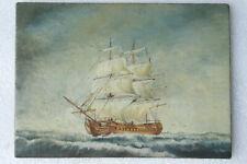 Dax marine tableau huile/toile Frégate voilier 3 mâts bateau ancien début XXe