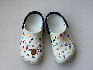 Crocs White  Paint Splatter Clogs Kids Boys Girls Size 11
