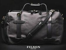 CC FILSON Medium Rugged Twill Duffle Bag Bridle Leather NEW 11070325 Cinder Grey