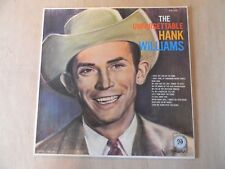 HANK WILLIAMS ~ UNFORGETTABLE HANK WILLIAMS~33 1/3 LP - PHONOGRAPH RECORD ~ALBUM