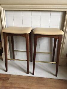 Conran Bar stool x 2 .  Retro Mid Century