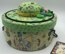 New Mary Engelbreit Sewing Basket by Dritz with Pin Cushion and storage pockets