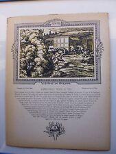 Gravure:guerre14-18:DIVISION COLONIALE/ AMBULANCE /Gravée sur bois par DE PIDOLL