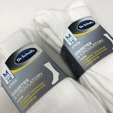 Dr. Scholl's size 7-12 Crew 8 Pair Diabetes Circulatory White Socks New