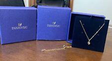 BRAND NEW IN BOX SWAROVSKI GOLD DICE CRYSTAL PENDANT NECKLACE 5523560