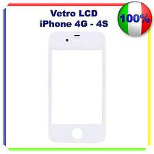 VETRO PER APPLE IPHONE 4G - 4S DISPLAY LCD RICAMBIO SCHERMO BIANCO