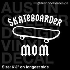 "6.5"" SKATEBOARDER MOM vinyl decal car truck window laptop sticker - skater"