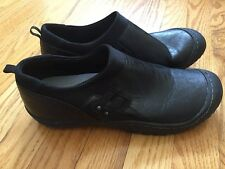 JAMBU J-41 Black Leather Stretch Slip On Jeep Traction Shoes Women's Size 11