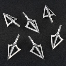 6 x 100 Grain Broadheads Arrowhead Tips Archery Arrow Tactical Bow Hunting Game