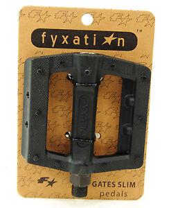 Fyxation Gates Slim Bicycle Pedals Black