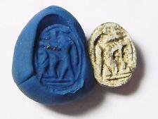 ZURQIEH -AF519- ANCIENT EGYPT , NEW KINGDOM STONE SCARAB. 1400 B.C