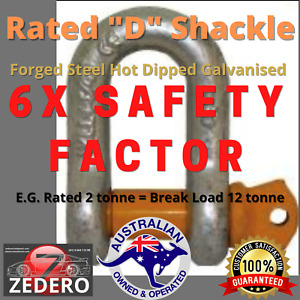 Rated D Shackle 4X4 Caravan Boat Trailer Safety Chain - Sold in Pairs