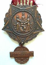 Antique 1883 Civil War Grand Army Of The Republic Ladies Past President Medal
