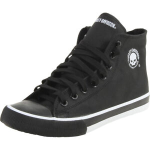 Harley-Davidson Baxter Sneakers Black/White Men's Skull High Top Shoes D93341