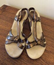 Mileni Ladies soft leather Sandals,Size 7 in Bronze.Pre-Owned as new condition