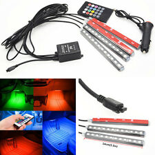 Car SUV Wireless Remote Music Control 12 LED Atmosphere 7 Colors Neon lamp Strip