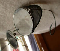 SPA VTG Antique Wire rim mesh Welding Safety Glasses Goggles  Steam Punk Clear