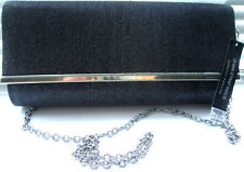 DOROTHY PERKINS - PEWTER EVENING BAG / CHAIN SHOULDER STRAP BNWT
