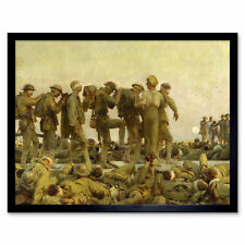 More details for singer sargent gassed soldiers wwi war painting wall art print framed 12x16