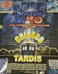 "Doctor Who 2003 Chicago TARDIS Convention Poster 16"" X 24"" Limited"