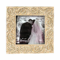 Pictures Frame Photo Wedding Family Anniversary Ivory Square Antique Floral 4x4