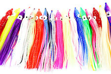 """20MixedColor 4.8""""Soft Plastic Octopus Squid Skirt Soft Jig Fishing Lures"""