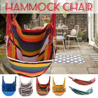 Portable Hammock Bed Hanging Rope Chair Porch Swing Seat Garden Outdoor Camping