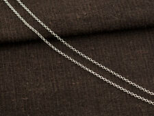 925 Sterling Silver Rolo Chain 1 mm. Delicate chain,  40 inches