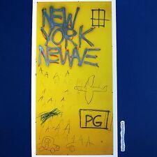 JEAN-MICHEL BASQUIAT NEW YORK NEWAVE UNCUT GICLEE ART PRINT NO WAVE NYC POSTER